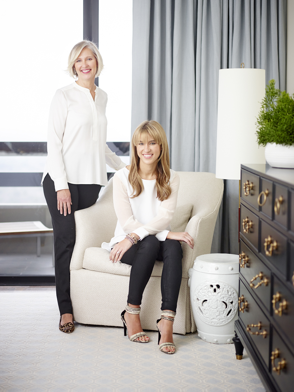 Margaret and Clary Bosbyshell of Margaux Interiors Ltd.